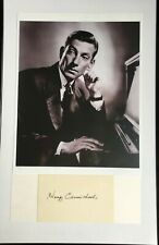 HOAGY CARMICHAEL PHOTO AND SIGNED CARD FAMOUS SONGWRITER STARDUST, ACTOR, SINGER