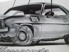 1971 CUDA FRAMED ARTWORK BARRACUDA COOL 70-74 Cuda Challenger RT TA SE HEMI