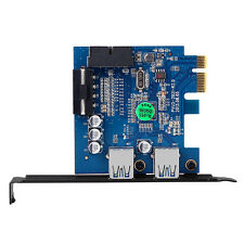 2-Port USB 3.0 PCI-E Express Card HUB Adapter Card Internal 20Pin 4Pin ED