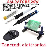 SALDATORE 230V 20W SUCCHIA STAGNO PORTASALDATORE ZD-23 SALDATURA SUPPORTO PCB
