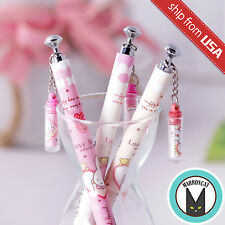 US 3pcs Kawaii Fun 0.5mm Mechanical pencils Miffy Korean cute dangle charm Chain