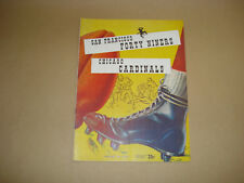 S.F. FORTY NINERS VS CHICAGO CARDINALS ~ GAME DAY PROGRAM AUG. 24, 1952