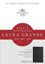 USED (LN) RVR 1960/KJV Biblia Bilingüe Letra Grande, negro tapa dura (Spanish E