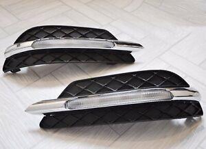 For Mercedes Benz W204 C-Class LH+RH LED Daytime Running Light Fog Lamp DRL STY