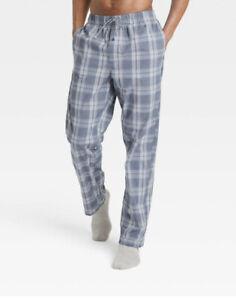 Goodfellow & Co™ ~ Men's LARGE~ Blue Plaid ~ Cotton ~ Sleepwear/Pajama Pants