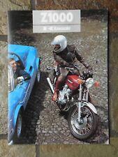Kawasaki Z1000-A1  Sales Brochure, 1977 Original NOS