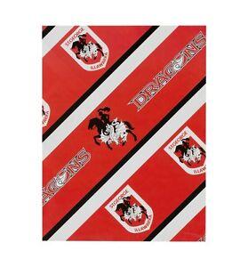 NRL St George Illawarra Dragons Birthday Wrap Gift Wrap Paper