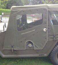Ford Mutt, m151, a1, a2, puertas con puertas correderas + pinzamientos de u.s. canvas! 2 trozo