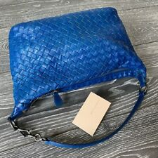 BOTTEGA VENETA 100% Authentic 🌈 2.100$ Leather Blue Bag