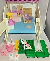 Vintage G1 My Little Pony Show Stable Playset Lemon Drop Dog Brandy Accessories