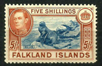 FALKLAND ISLANDS George VI 5/- SG161