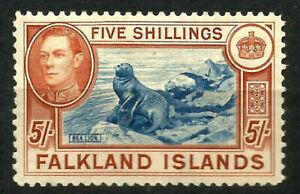 FALKLAND ISLANDS George VI 5/- SG161
