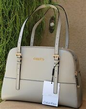 NWT Calvin Klein CLAUDIA Satchel Handbag H5JDD4KG Genuine Leather 100% Authentic