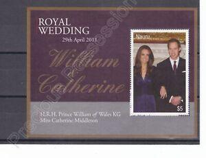 NAURU MNH STAMP SHEET 2011 ROYAL WEDDING PRINCE WILLIAM SG MS690