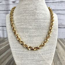 """Fashion Gold Rope Chain Necklace 18"""" Length Costume Jewelry"""