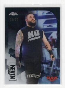 Kevin Owens 2020 Topps Chrome WWE /25 Black Refractor