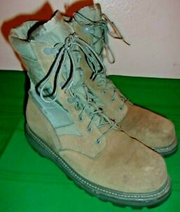 UFCW Combat Boots for Men, U.S. Military Issue(34236) Size 9 W, Steel Toe!!!
