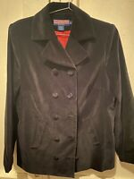 Vineyard Vines Black Velvet Double-breasted Blazer Jacket Longline Women's Large