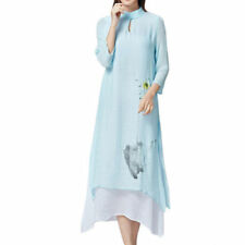 Collar Linen Dresses for Women
