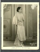 GREAT GLORIA SWANSON 1929 PORTRAIT - V GOOD COND LINEN-BACKED- SILENT ICON - SIL