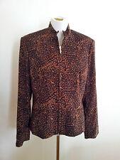 Wardrobe Must-Have! Liz Jordan size M animal print jacket in excellent condition