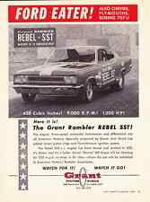 """1967 GRANT RAMBLER / REBEL SST  -  """"FORD EATER""""  -  RARE ORIGINAL MUSCLE CAR AD"""
