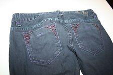 GUESS jeans women's size 27 slim skinny fit rhinestone embelished