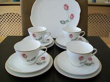 Four Hutschenreuther Selb LHS Bavaria Cups, Saucers, Side Plates & A Cake Plate