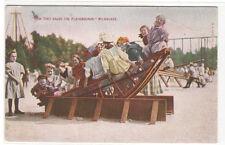 Childrens Ride Playground Milwaukee Wisconsin 1910 postcard