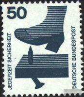 BRD 700A Rb mit roter Zählnummer gestempelt 1971 Unfallverhütung
