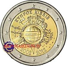 2 Euro Commémorative Chypre 2012 - 10 Ans de l'Euro TYE