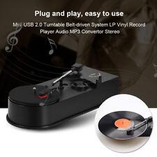 USB2.0 Turntable Belt-driven Vintage LP Vinyl Record Player Audio MP3 Convertor