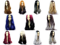 Wiwigs ® Fabulous Long Straight Wigs Blonde Red Grey Brown Dip-Dye Ombre Hair