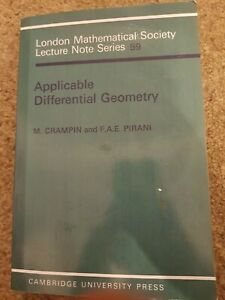 Applicable Differential Geometry by F. A. E. Pirani, M. Crampin (Paperback 1994)