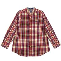 Chaps Easy Care Shirt Mens Size XXL 2XL Red Plaid Long Sleeve Button Front