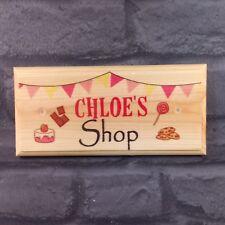 Personalised Sweet Shop Sign, Childrens Play Mud Kitchen Plaque Gift Garden Kids