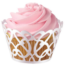 Wilton 18pk White Pearl Foil Swirls Cupcake Cake Muffin Wraps Cases Holders