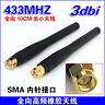 1Pcs 433MHZ 3dbi GSM GPRS SMA Male Plug Straight OMNI antenna 11CM