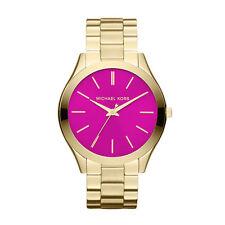 MICHAEL KORS Runway Pink Dial Gold Tone Ladies Watch MK3264 - 2 Years Warranty