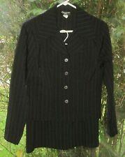 Cimmaron Dress Size 10 Black With Light Blue Pin Stripes Blazer & Skirt Suit