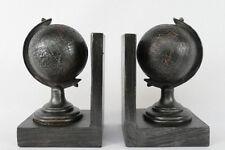 2 Buchstützen Weltkugel Globus Vintage antik  NY06-b