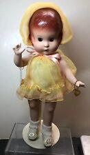 """13� Effanbee Doll Company Porcelain Reproduction """"Patsy"""" Yellow Dress W/ Box Coa"""