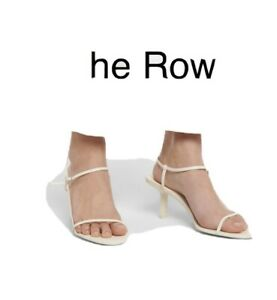 The Row Bare White Sandals