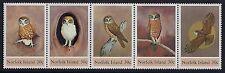 1984 NORFOLK ISLAND BOOBOOK OWL STRIP OF 5 FINE MINT MNH/MUH