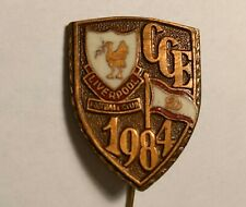 Pin Liverpool football v Dinamo Bucuresti badge 1984 EUROPEAN CUP SEMI FINAL
