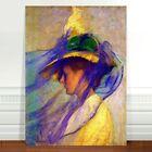 "Edmund Tarbell The Blue Veil ~ FINE ART CANVAS PRINT 36x24"""