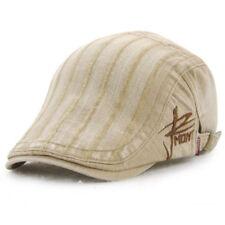 UK Unisex Men's Vintage Embroidery Gatsby Cap Flat Cabbie Beret Newsboy Sun Hat Gray
