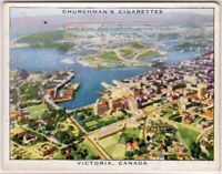 Victoria British Columbia Canada From Air 1930s Trade Ad Card