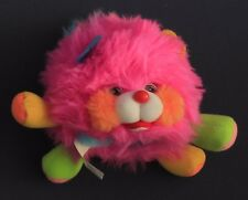 1986 Vintage PINK Puffling Popples Plush Toy Mattel Very Clean Turquoise Stuffed