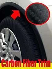 CARBON FIBER WHEEL WELL FENDER ACCENT TRIM MOLDING 4PC W/5YR WARRANTY (toyo4f)